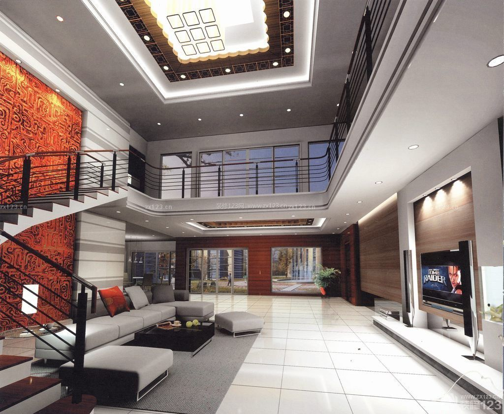现代简约风格楼梯楼中楼装修效果图大全2014