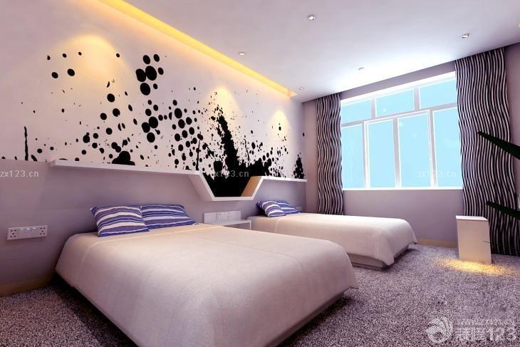 快捷酒店标准间创意主题套房设计图
