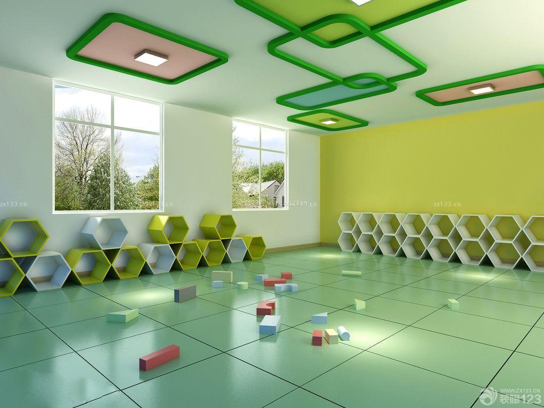 现代风格幼儿园教室布置效果图-现代风格吊顶图片