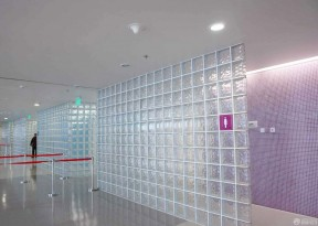 玻璃磚隔斷 公共衛生間
