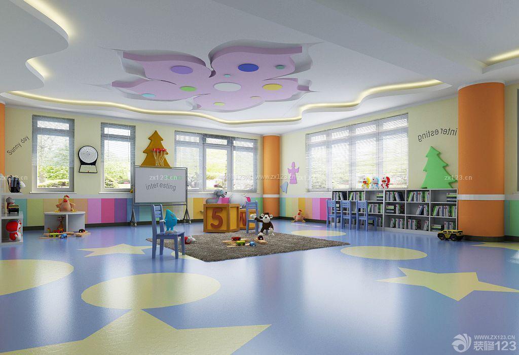 可爱幼儿园教室墙饰布置装修图片
