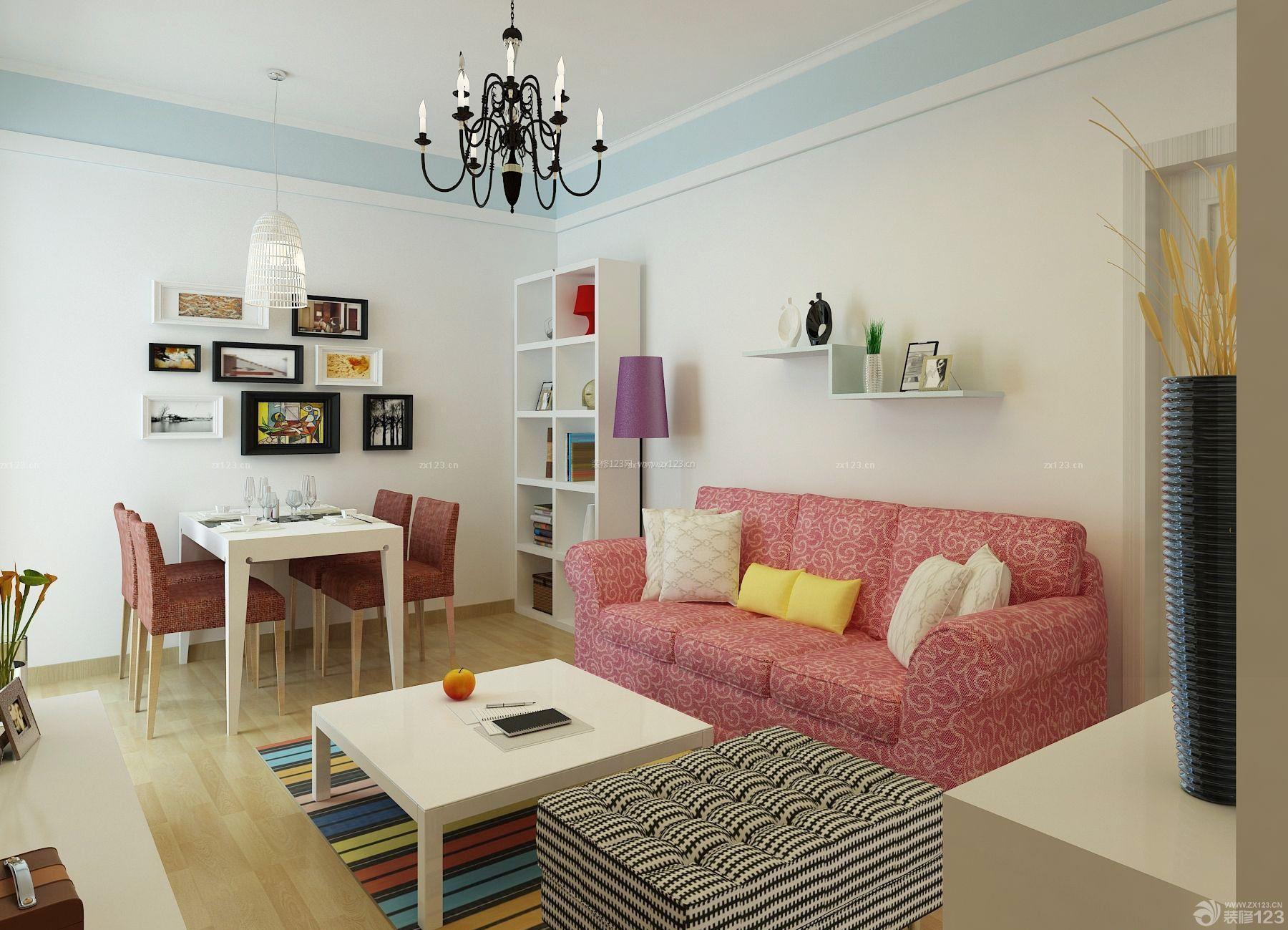 时尚混搭风格一居室小户型设计图