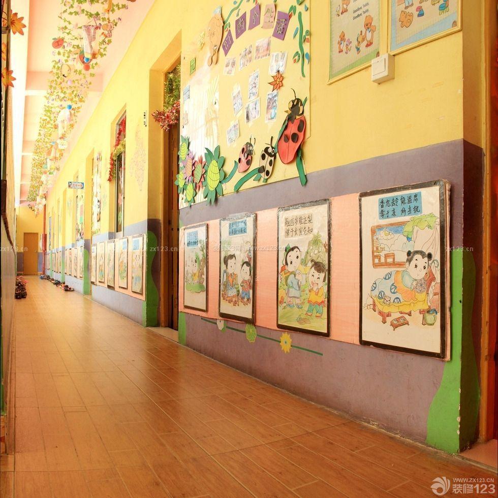 幼儿园走廊墙饰设计效果图大全图片