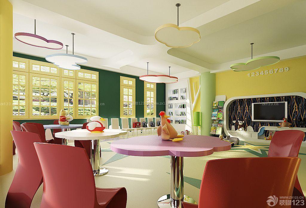 可爱幼儿园教室布置设计效果图大全