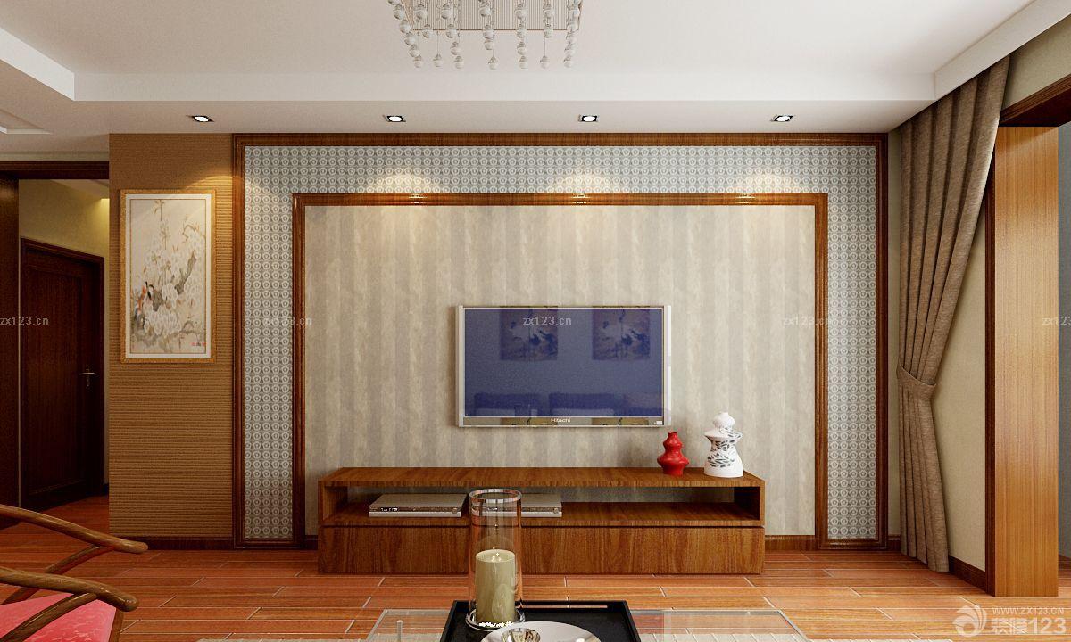 中式风格硅藻泥电视背景墙设计?#35745;?#27427;赏