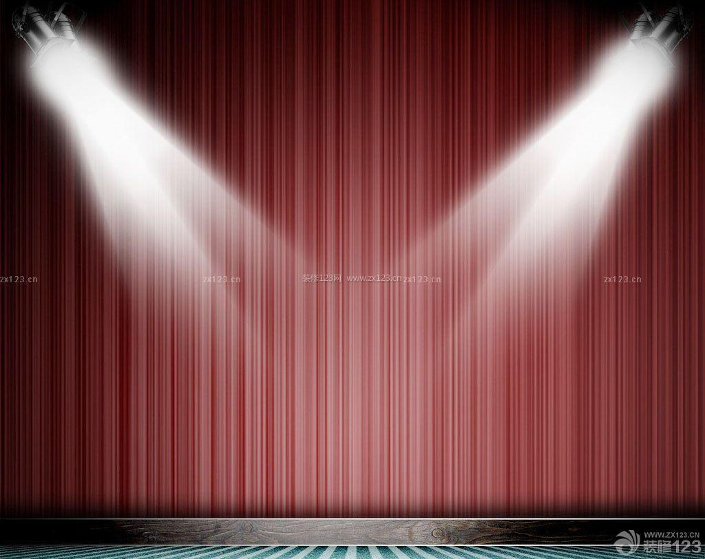 室内小舞台灯光设计效果图片