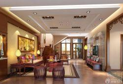 大客廳明清古典家具擺放圖片