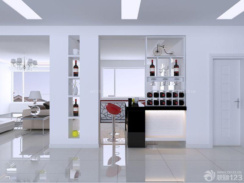 最新简约欧式风格客厅装饰酒柜展示