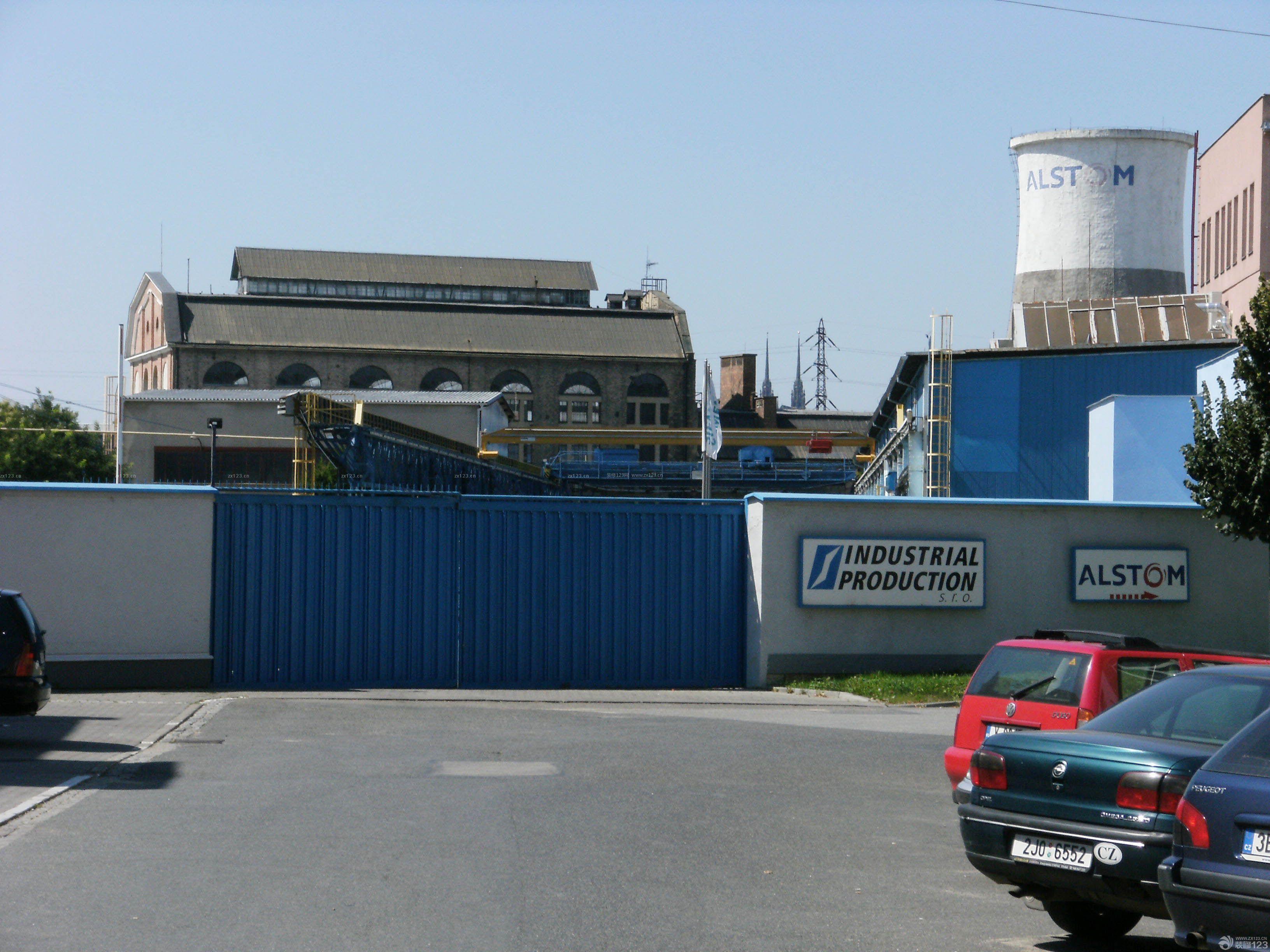 国外工厂围墙大门装修效果图片