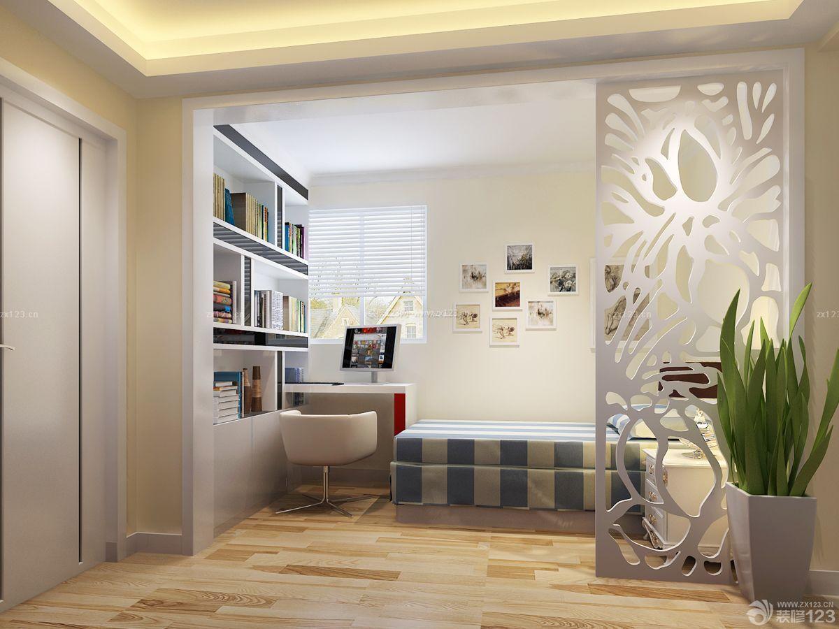 40平米一居室 小户型客厅卧室一体装修设计效果图_123