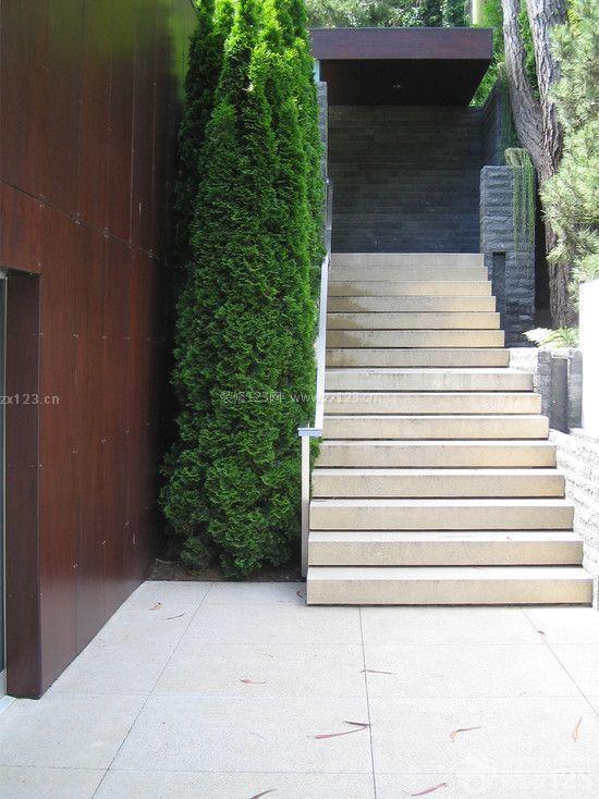 房屋园林景观楼梯设计效果图片