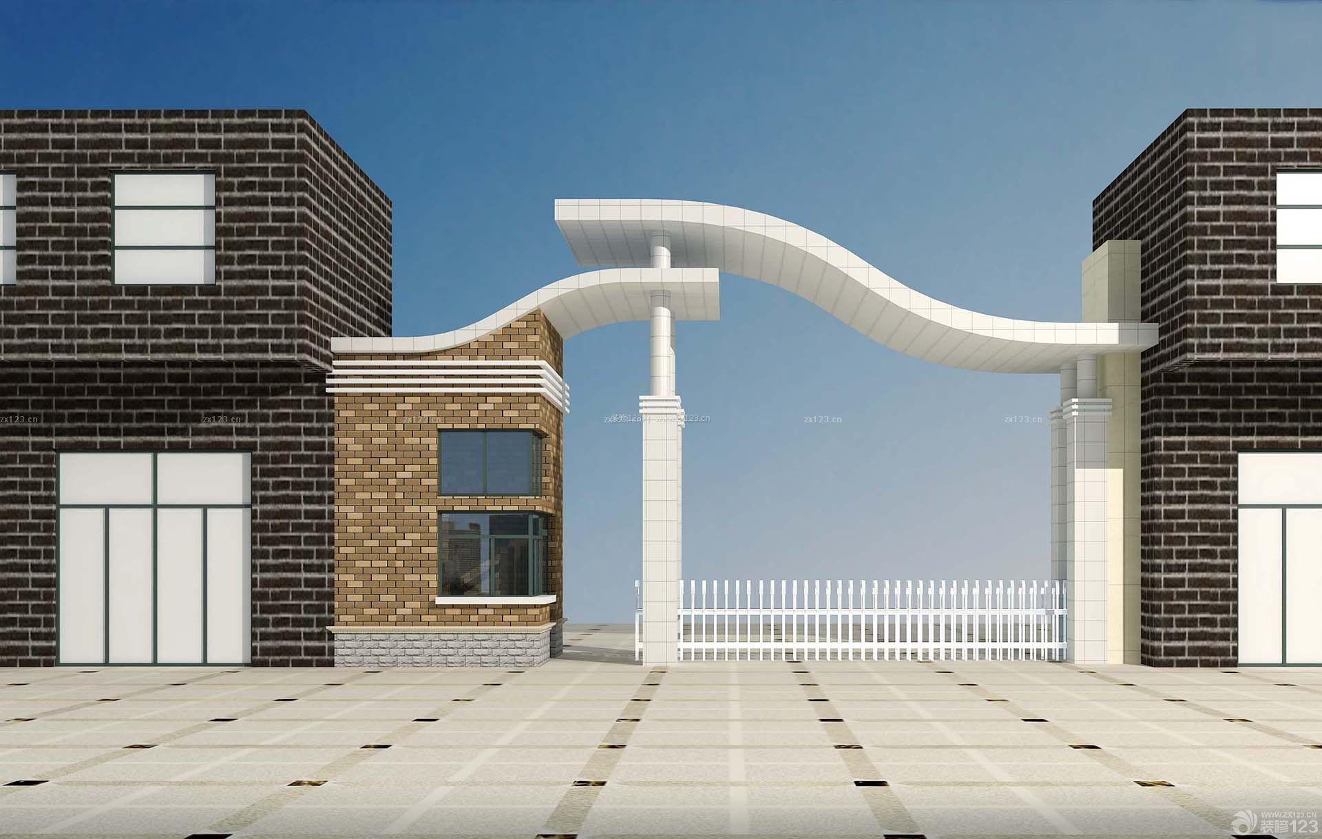 东江豪庭住宅小区大门设计效果图