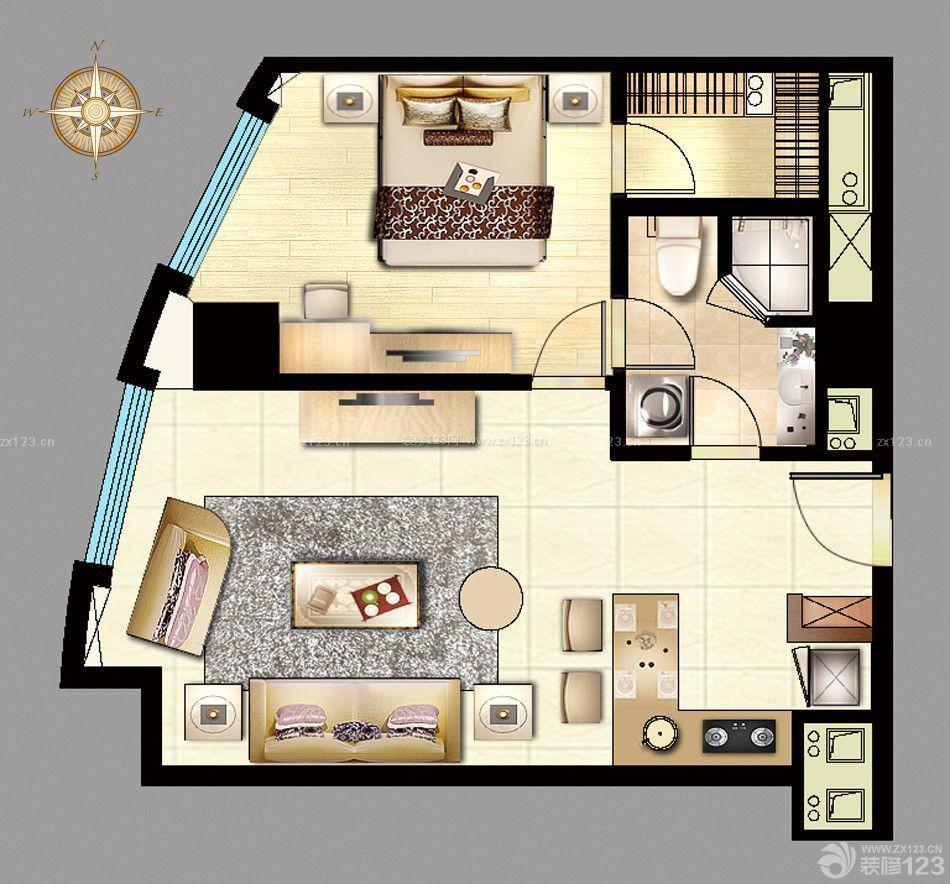 40平方一室一厅户型图农村花园小洋房别墅