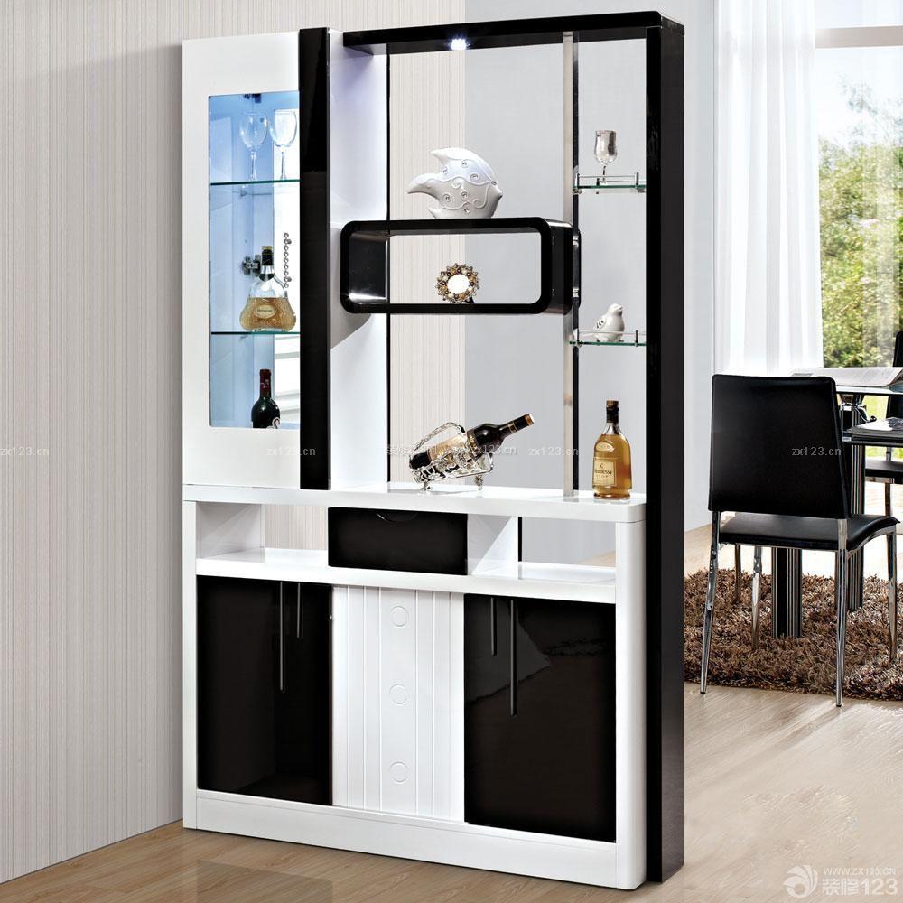現代風格客廳裝飾酒柜裝修案例
