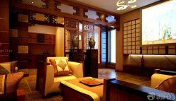 客廳木質隔斷裝修設計圖