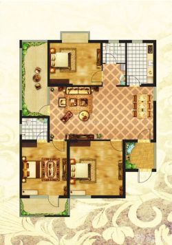 求80平方房屋设计图.座北向南,东西10米,南北8米,一楼图片