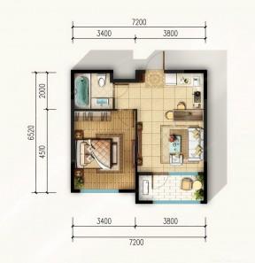 40平方一室一廳戶型圖 農村簡單別墅戶型圖