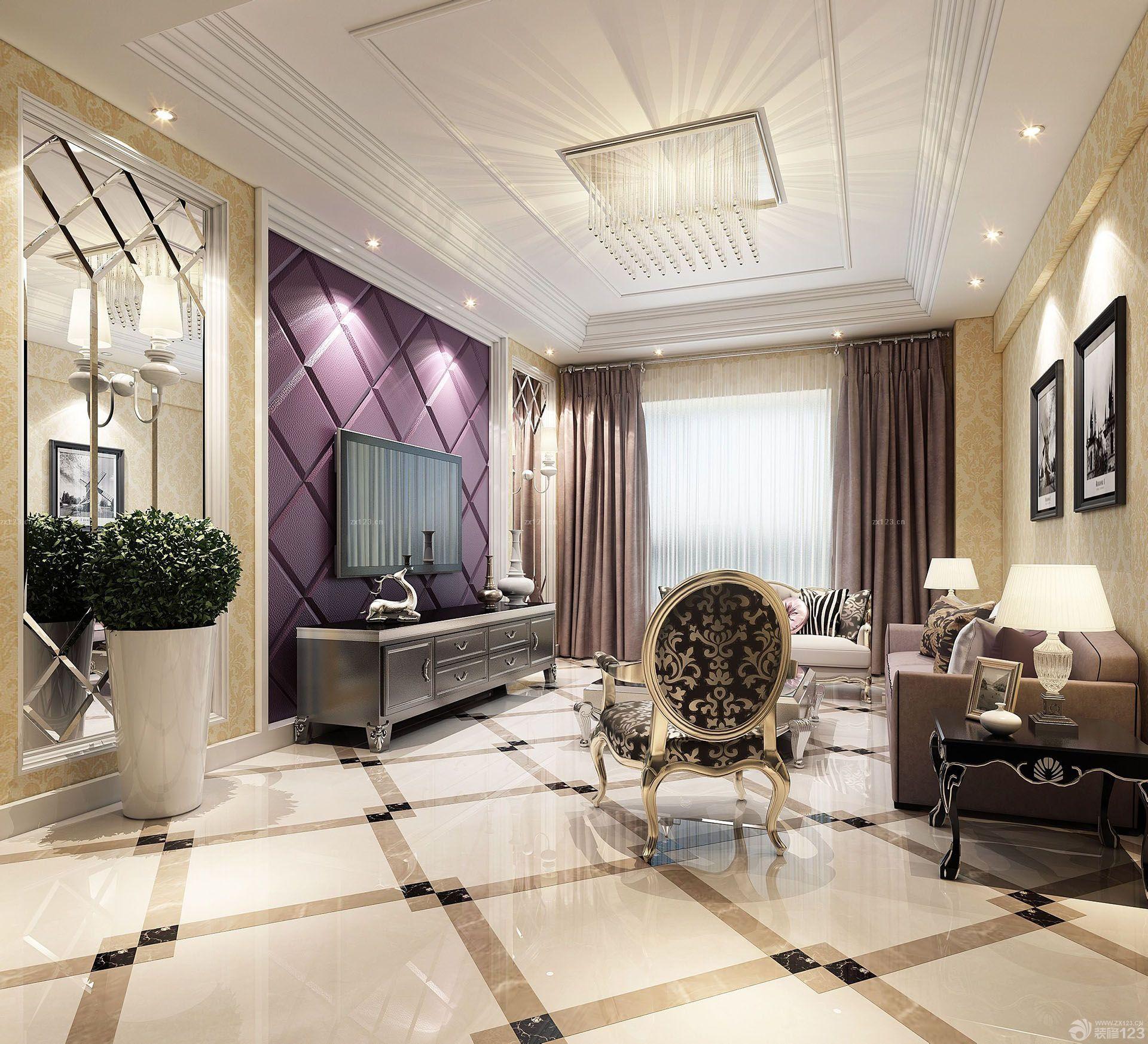 普通家庭欧式古典家具客厅装修效果图
