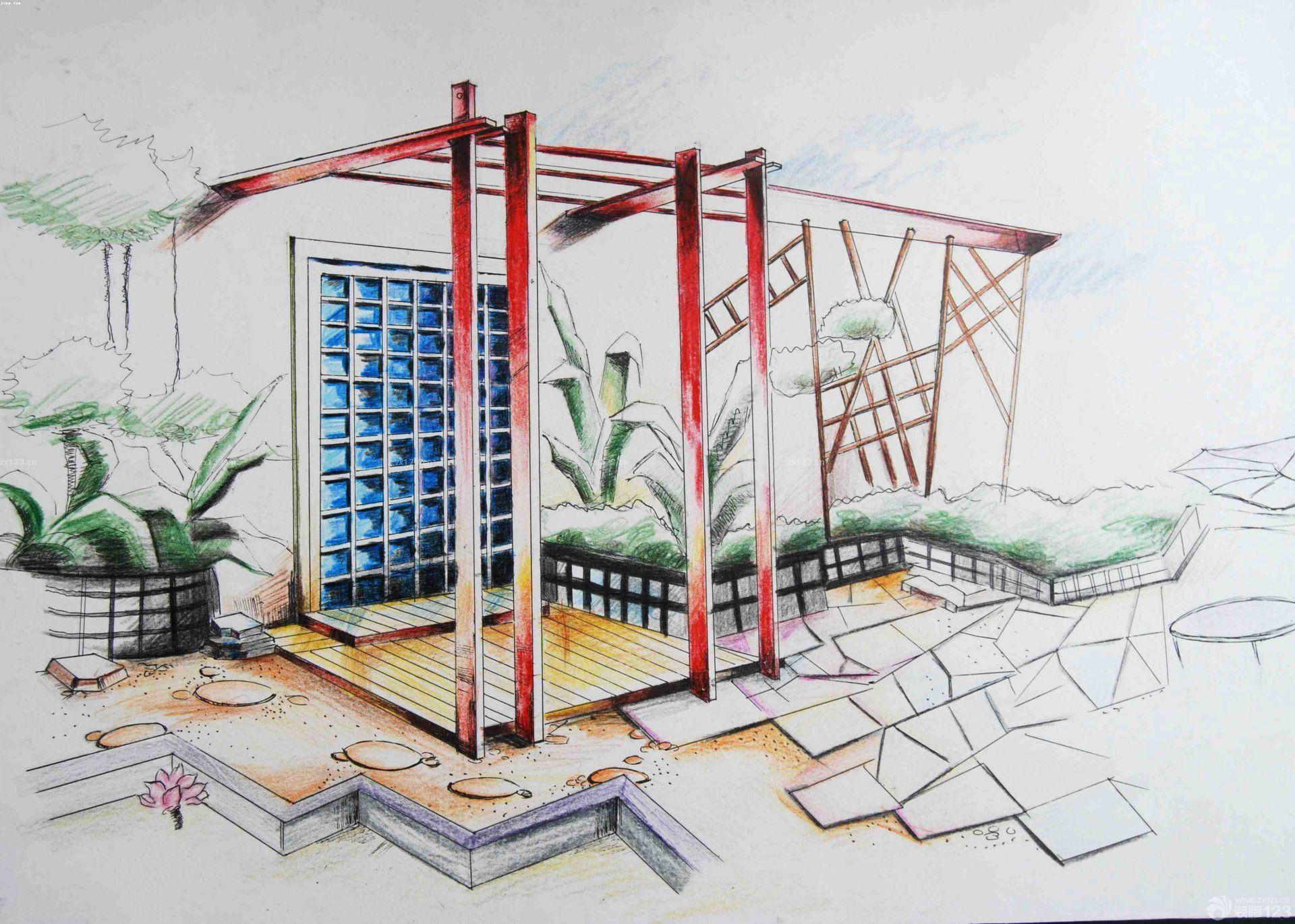 设计展厅手绘效果图