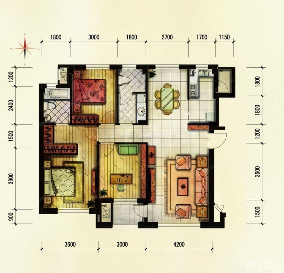 75平米乡村房子小户型设计图