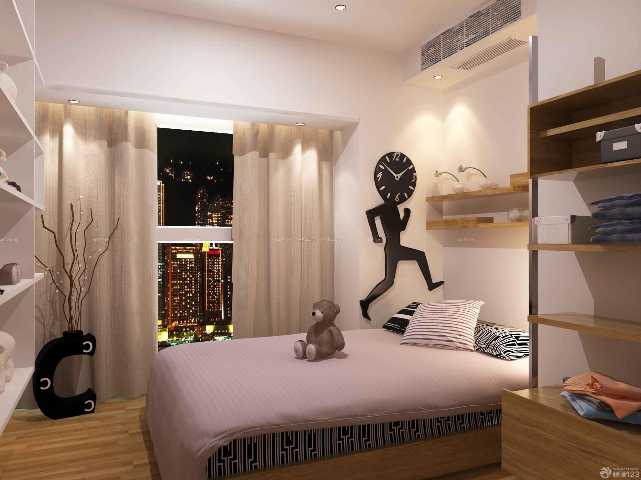 普通家庭简约风格卧室装修效果图