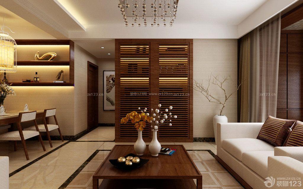 新中式风格房屋客厅波打线装修效果图