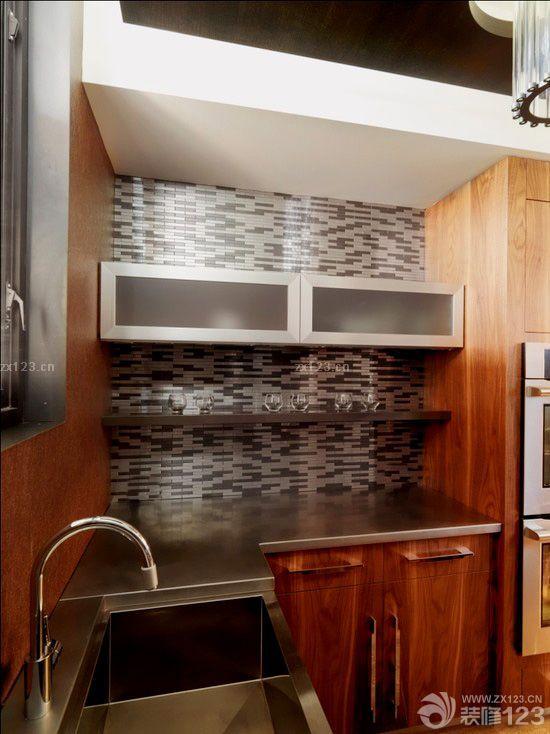 现代欧式简约风格厨房墙面瓷砖效果图欣赏