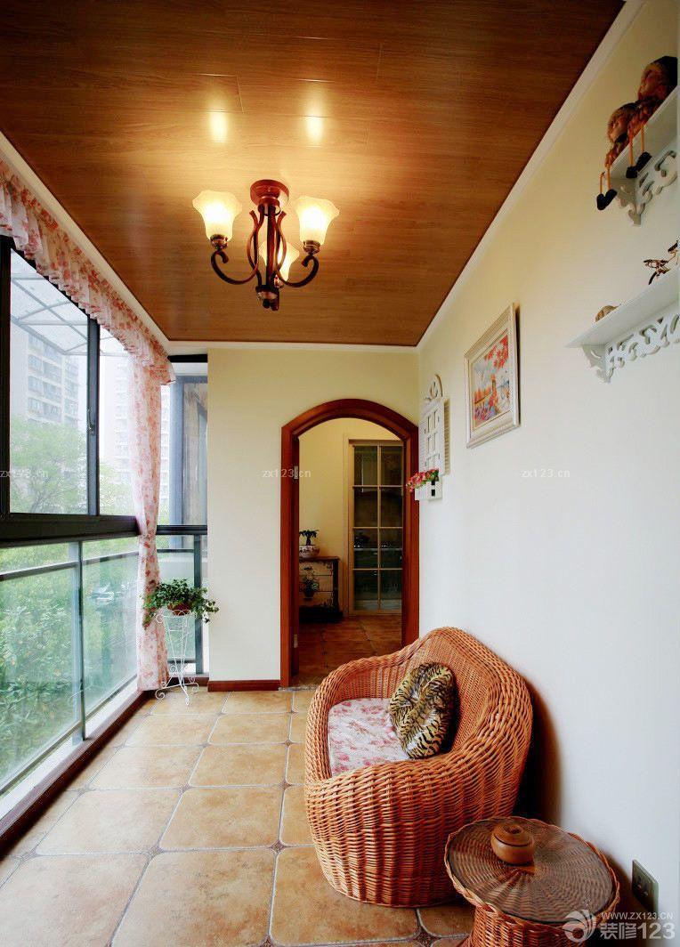 美式风格小户型阳台设计效果图欣赏