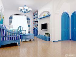 最新地中海風格藍色門框裝飾圖