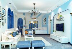 地中海風格藍色門框裝飾圖