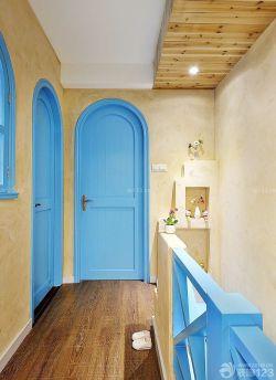 地中海風格藍色門框設計圖
