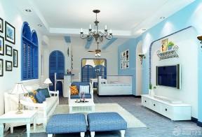 蓝色门框 地中海风格