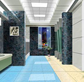 豪華衛生間藍色地磚設計-每日推薦