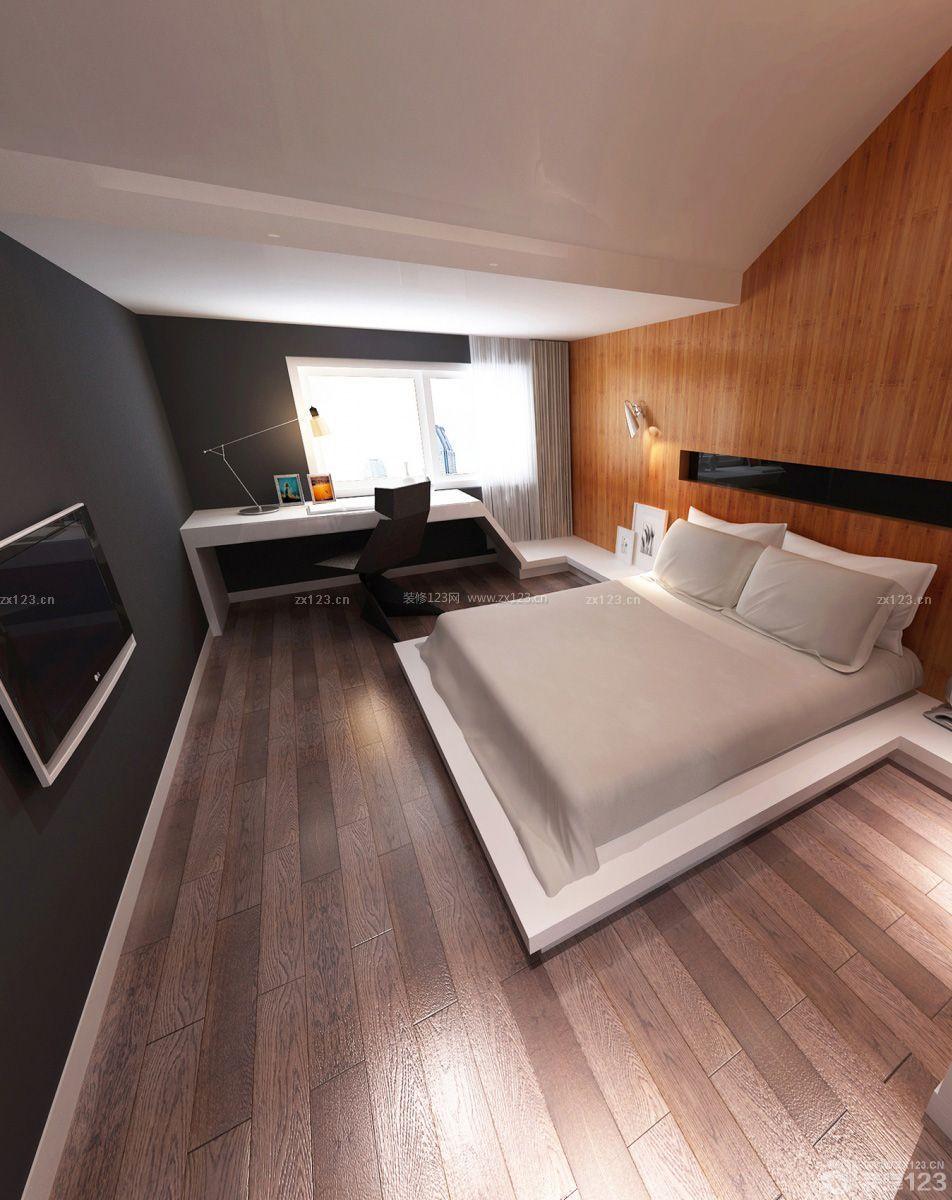 简约风格30平米单身公寓卧室装修设计