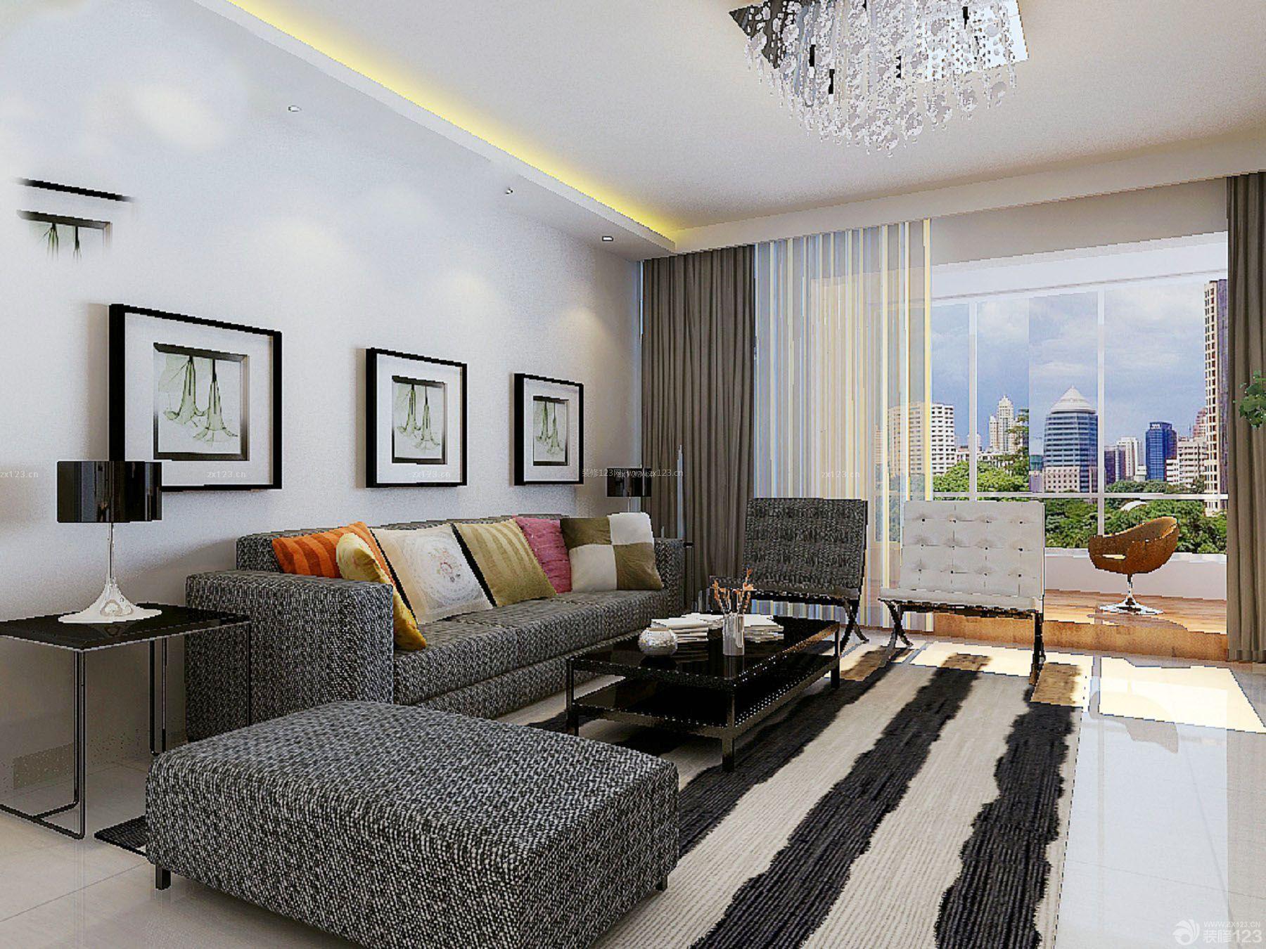 欧式风格40平方单身公寓装修实景图