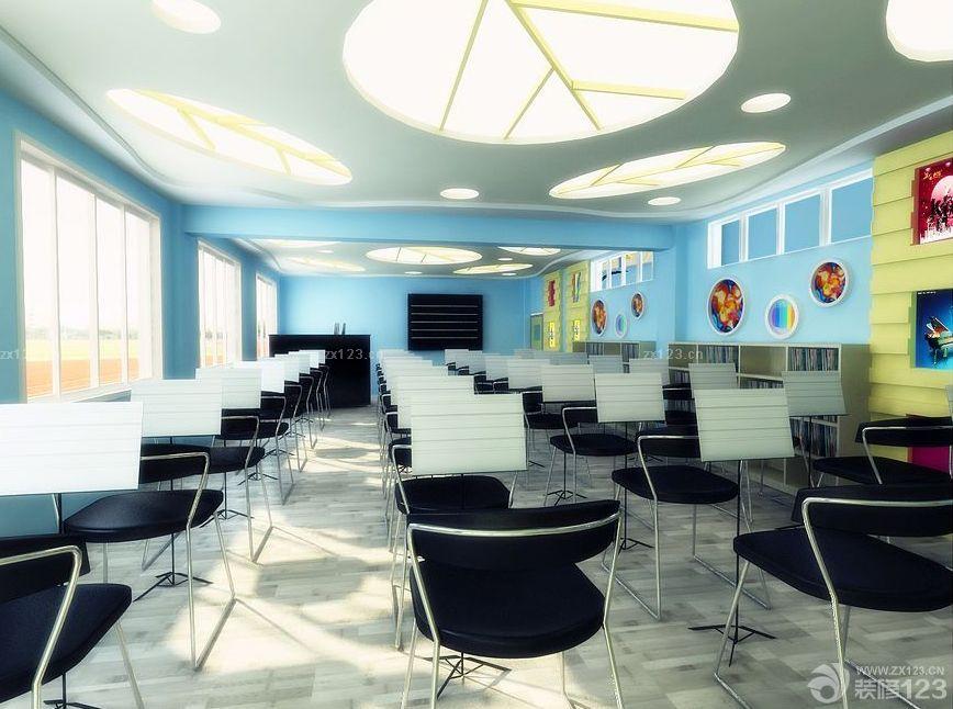 素描教室吊顶灯布置效果图片