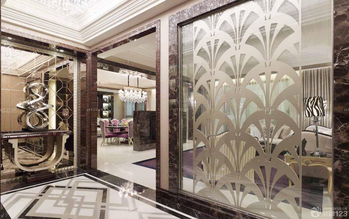 简欧式风格镜面瓷砖装修效果图