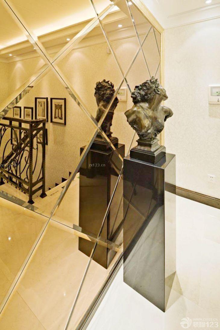 家装玄关镜面瓷砖设计_装修123效果图