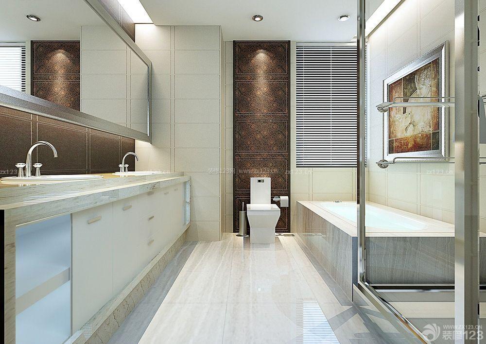 精致小卫生间砖砌浴缸装修案例