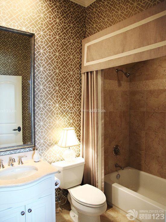 家居浴室浴帘图片_装修123效果图
