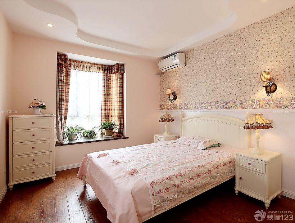 美式乡村风格儿童房间窗帘搭配设计效果图