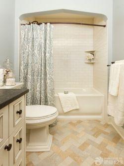 現代簡約風格衛生間浴簾圖片