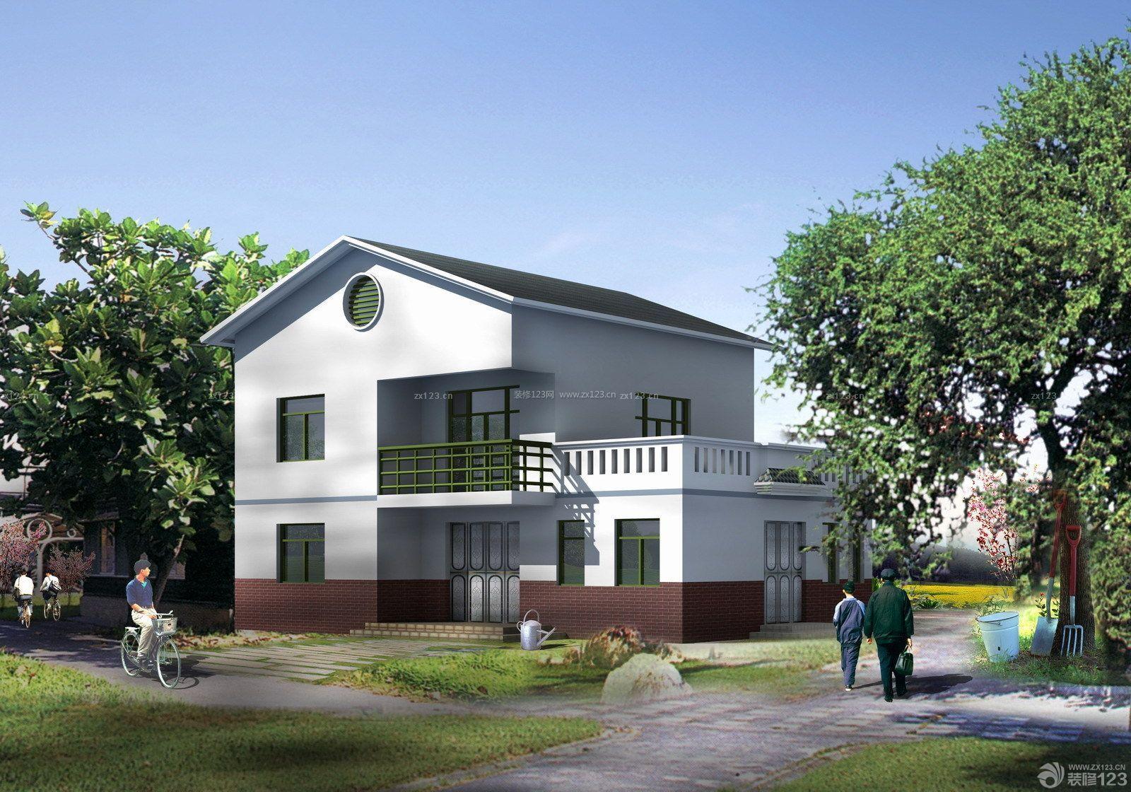 南方农村房屋白色墙面设计图