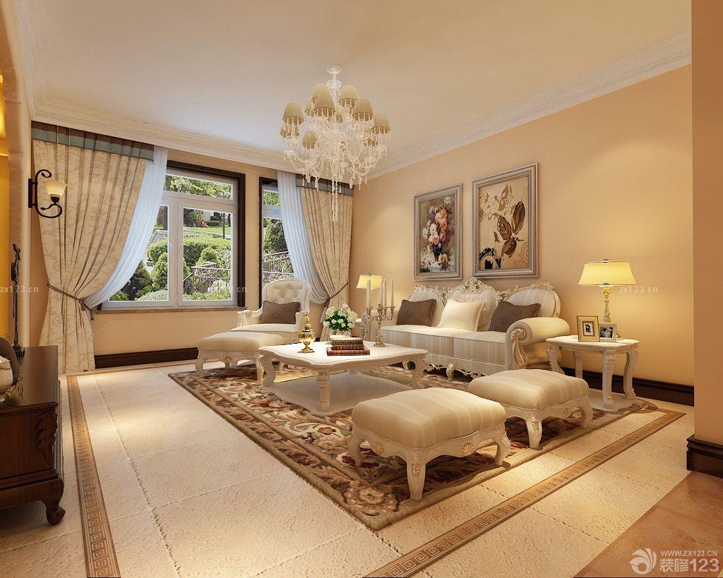 不吊顶的客厅沙发摆放设计图片