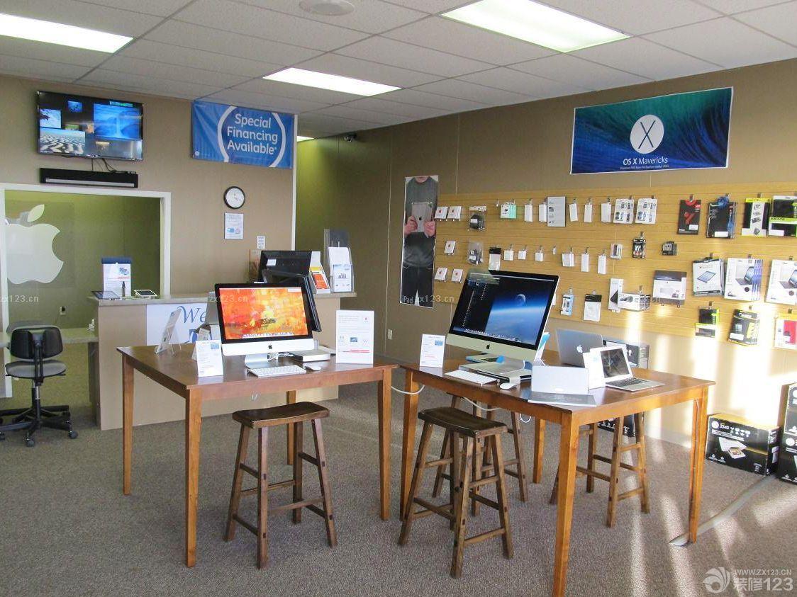 现代小型电脑店面墙面设计图片大全图片