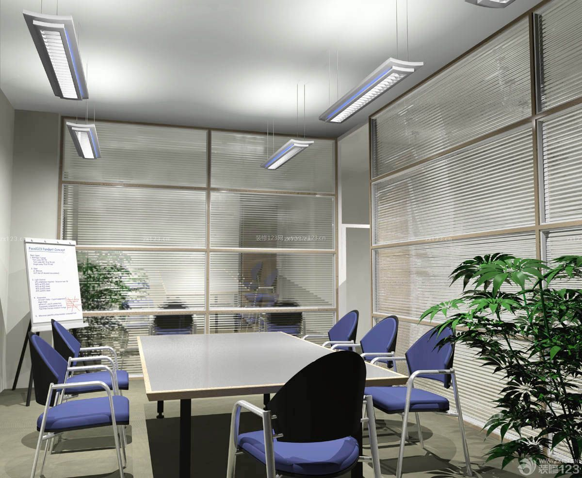 小型会议室布置桌椅布置效果图