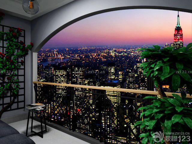 现代简约欧式风格阳台门框造型设计图