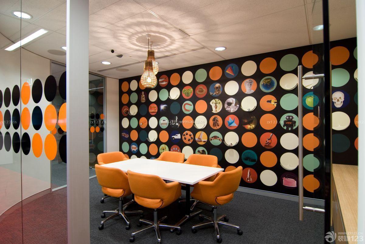 小型会议室布置背景墙布置效果图