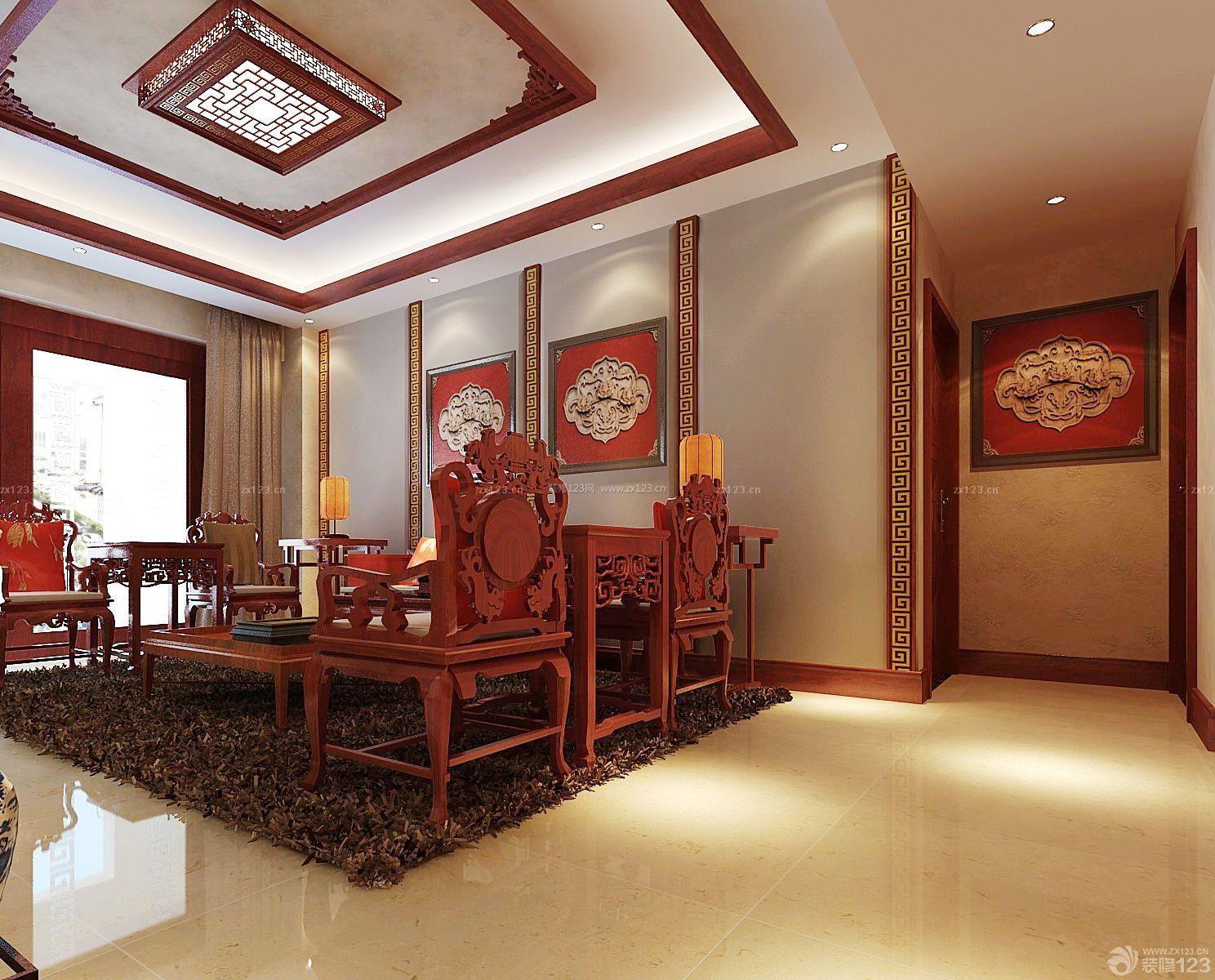 小客厅红色踢脚线装修效果图大全