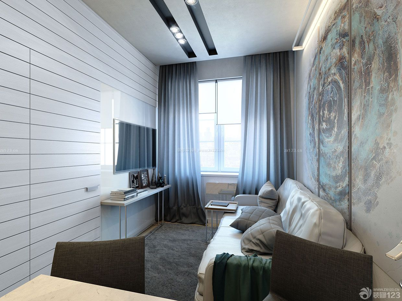 25平米小户型公寓装修手绘墙画